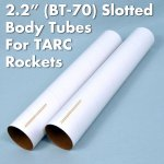 "56mm x 18"" Slotted Body Tube (Estes BT-70 size)"