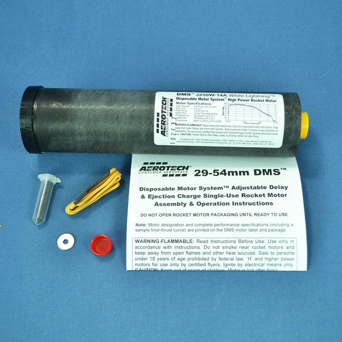 Aerotech 54mm HP SU DMS Motor - J450DM-14A 54mm Single Use