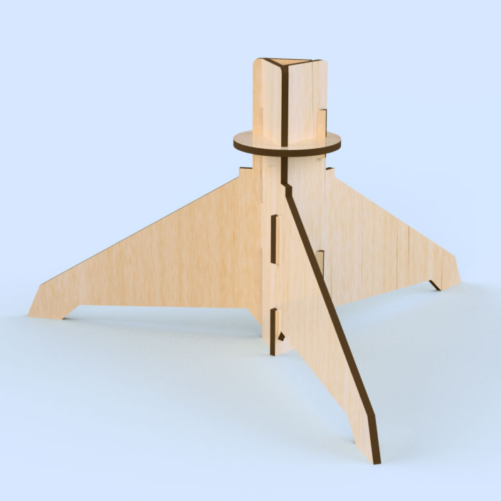 38mm Plywood Display Stand