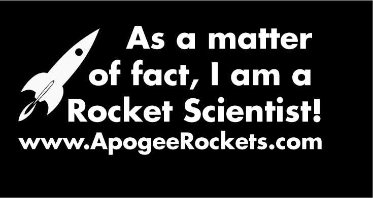 Rocket Scientist Window Decal
