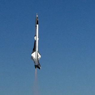 Ibis launch on a Estes C6-5 rocket motor