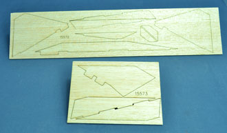 Laser cut balsa fins