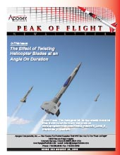 Model rocket newsletter: Peak-of-Flight