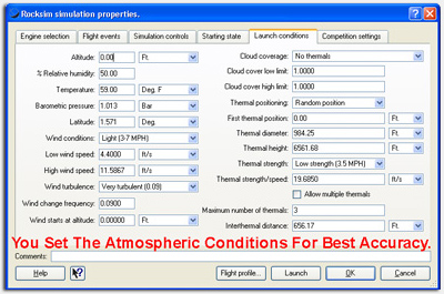 RockSim's advanced atmospheric model, you get the most accurate simulation results.